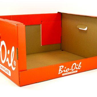 Die cut packaging Bio-Oil